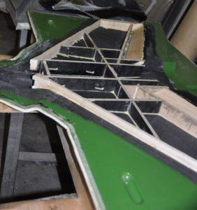 Планеры беспилотников из углепластика - Sagrit. Фотография заготовки силового набора фюзеляжа из бальсы