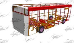 Детали экстерьеров автобусов из углепластика, производство